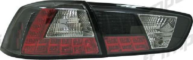 Mitsubishi Lancer 08+ / EVO X LED Taillights Set Black