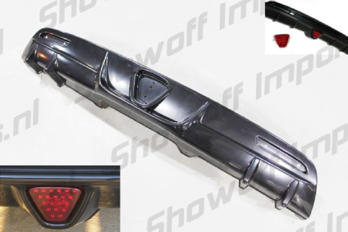 Honda CRZ 10+ Rear Bumper Diffuser Without Exhaust Holes ABS