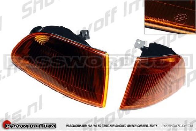 Honda Civic 92-95 2/3D Smoked Amber Corners PWJDM