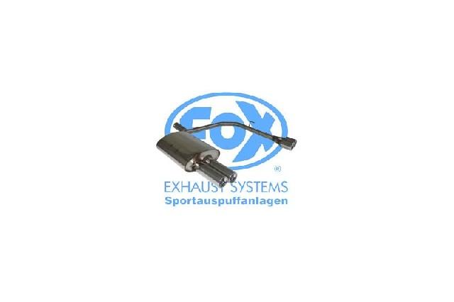 FOX BMW E60 520d 525d 530d  Endschalldämpfer Ausgang rechts/links - 2x76 Typ 13 rechts/links