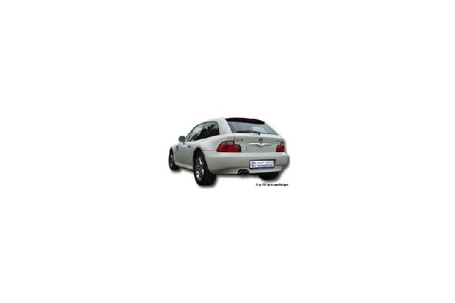 FOX BMW Z3/ Z3 Coupe 3,0l  Endschalldämpfer - 2x80 Typ 17