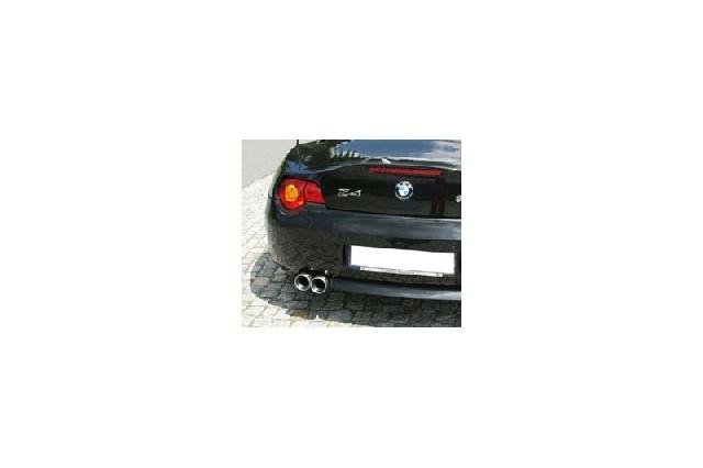 FOX BMW Z4  Endschalldämpfer inkl. Y-Verbindungsrohr 2x50mm - 2x80 Typ 13