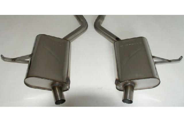 FOX BMW Z8  Endschalldämpfer rechts/links Schalldämpfer werden mit den Originalendrohren verwendet  - Rohrdurchmesser: 63,5mm