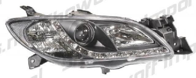 Mazda 3 4D 03-08 Headlights Set DRL Black