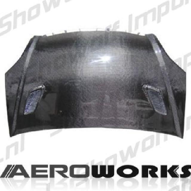 Honda Civic 01-05 HB Aeroworks Carbon MGN Hood