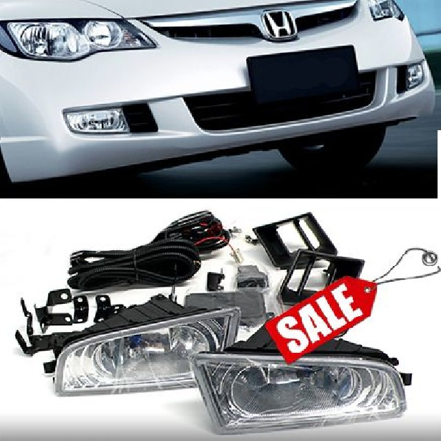 Honda Civic 06-09 FD 4D Oem Fog Lights Clear