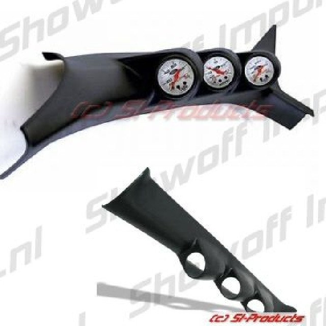 Honda Civic 01+ 3/5D A-Pillar Triple Gauge Pod SIX
