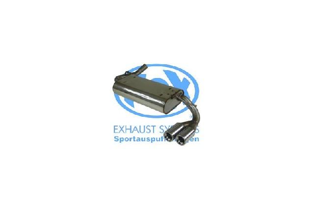 FOX Chrysler Neon II  Endschalldämpfer - 2x76 Typ 13