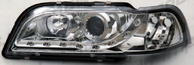 Volvo S40/V40 96-04 R8 Style LED Headlights Chrome V1