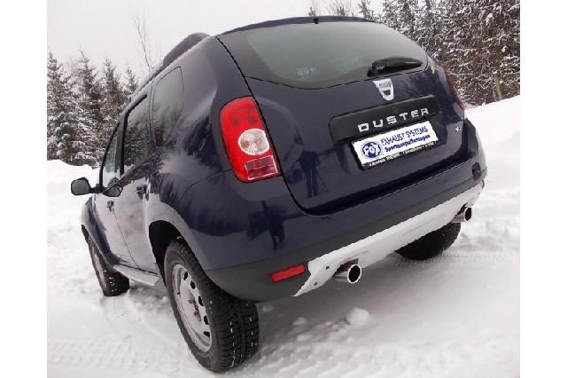 FOX Dacia Duster 4x4  Endschalldämpfer quer Ausgang rechts/links - 1x80 Typ 16 rechts/links