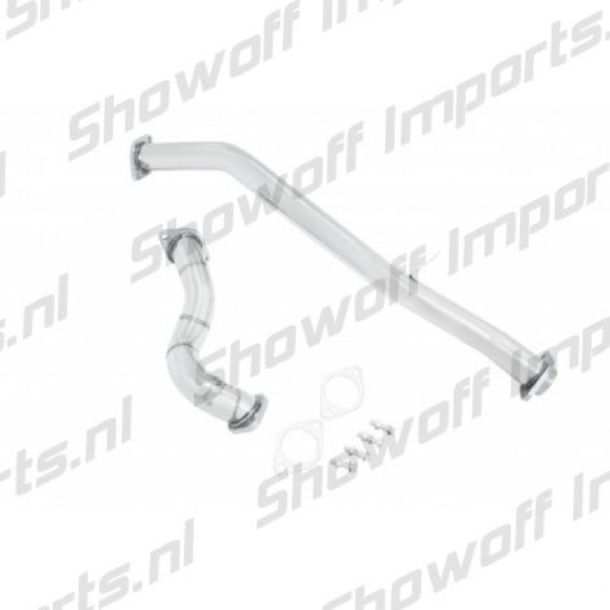 Subaru BRZ Manzo Stainless Downpipe + Uppipe