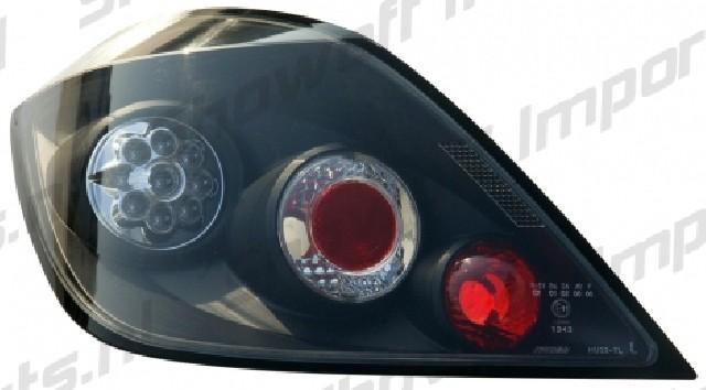 Opel Astra H 5D 04+ Taillights Black V1