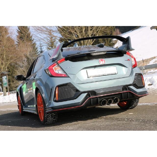 Honda Civic X Type R VorschalldämpferHonda Civic X Type R … Honda Civic X Type R Endschalldämpfer quer Ausgang rechts/links - 100-90-100 Typ 25 mittig
