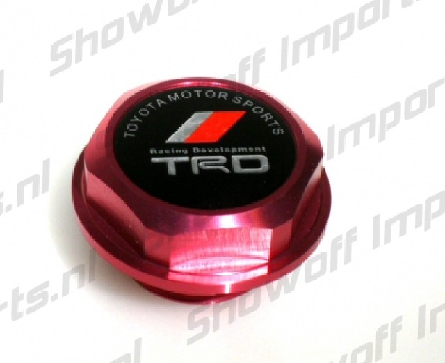 Universal Toyota TRD Style Oil Cap TYPE 2 Red