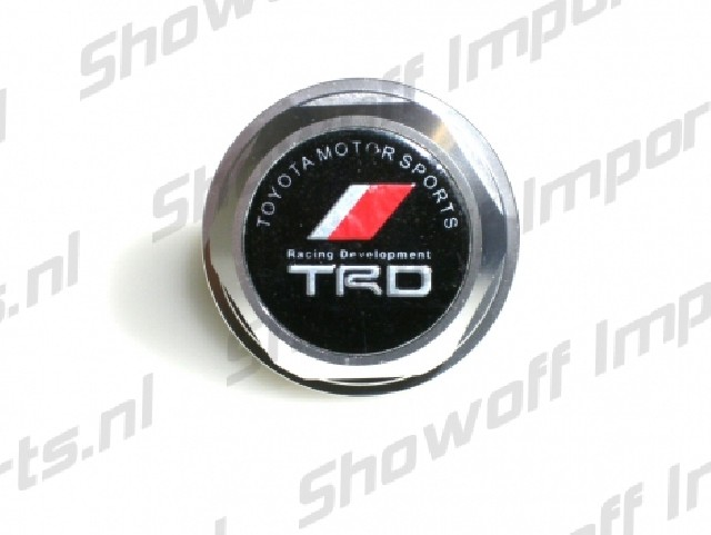 Universal Toyota TRD Style Oil Cap TYPE 2 Silver