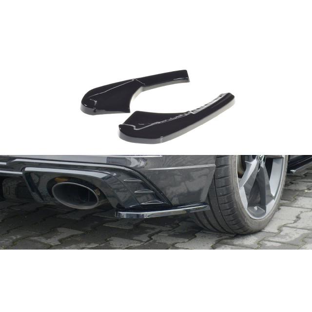 Heck Ansatz Flaps Diffusor für Audi RS3 8V FL Sportback schwarz matt