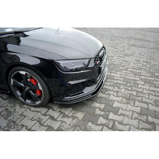 Cup Spoilerlippe Front Ansatz V.1 für Audi RS3 8V FL Sportback schwarz matt