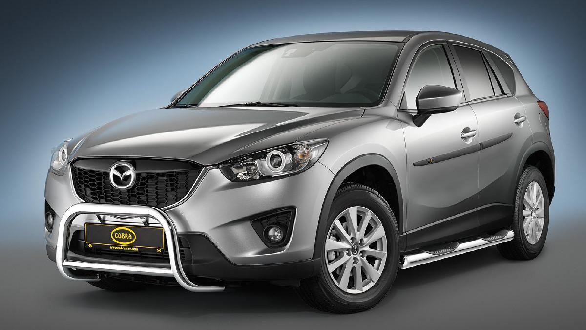 Frontbügel Edelstahl chrom  60 mm für Mazda CX-5 MK1