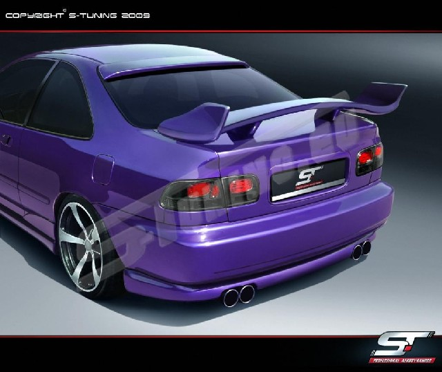 REAR SPOILER HONDA CIVIC COUPE SHOGUN