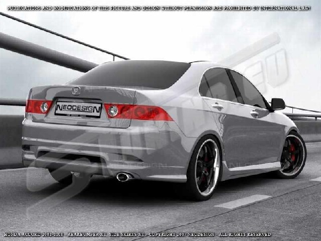 REAR BUMPER HONDA ACCORD XT Limo 03-08