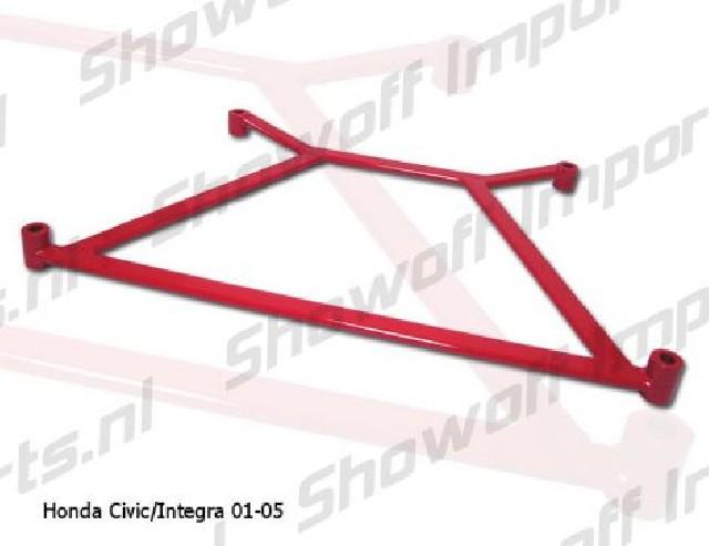 Honda Civic/Integra 01-05 Megan Racing Front H-Brace Red