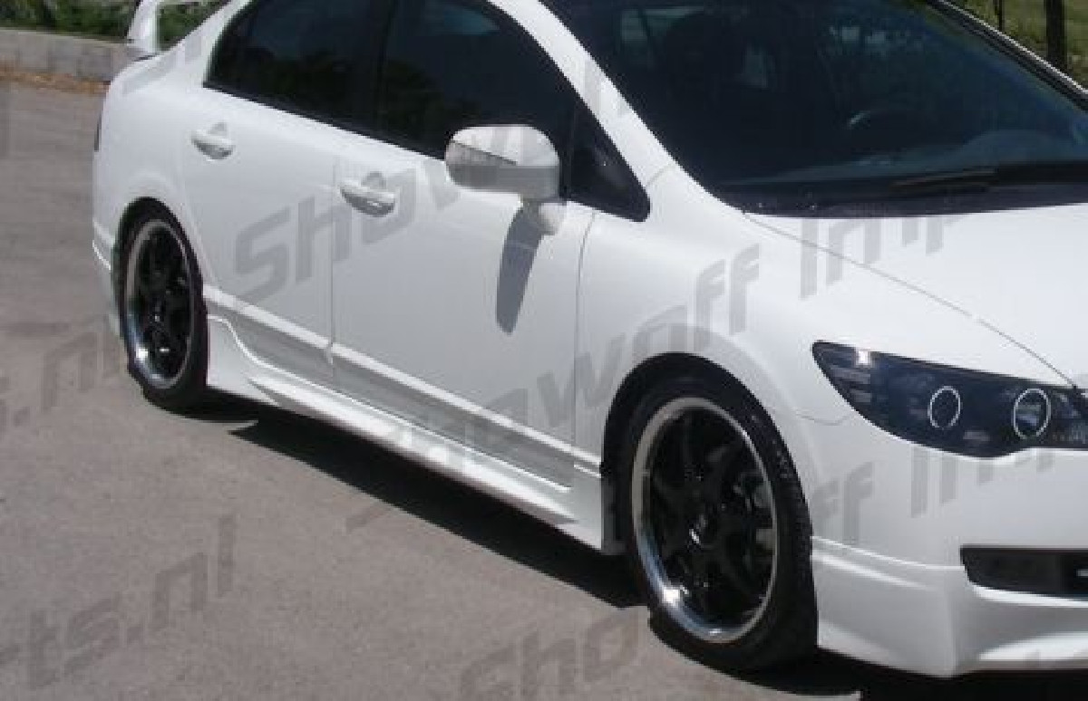 Honda Civic 4D/Hybrid 05+ Mugen Look ABS Sideskirts SIX