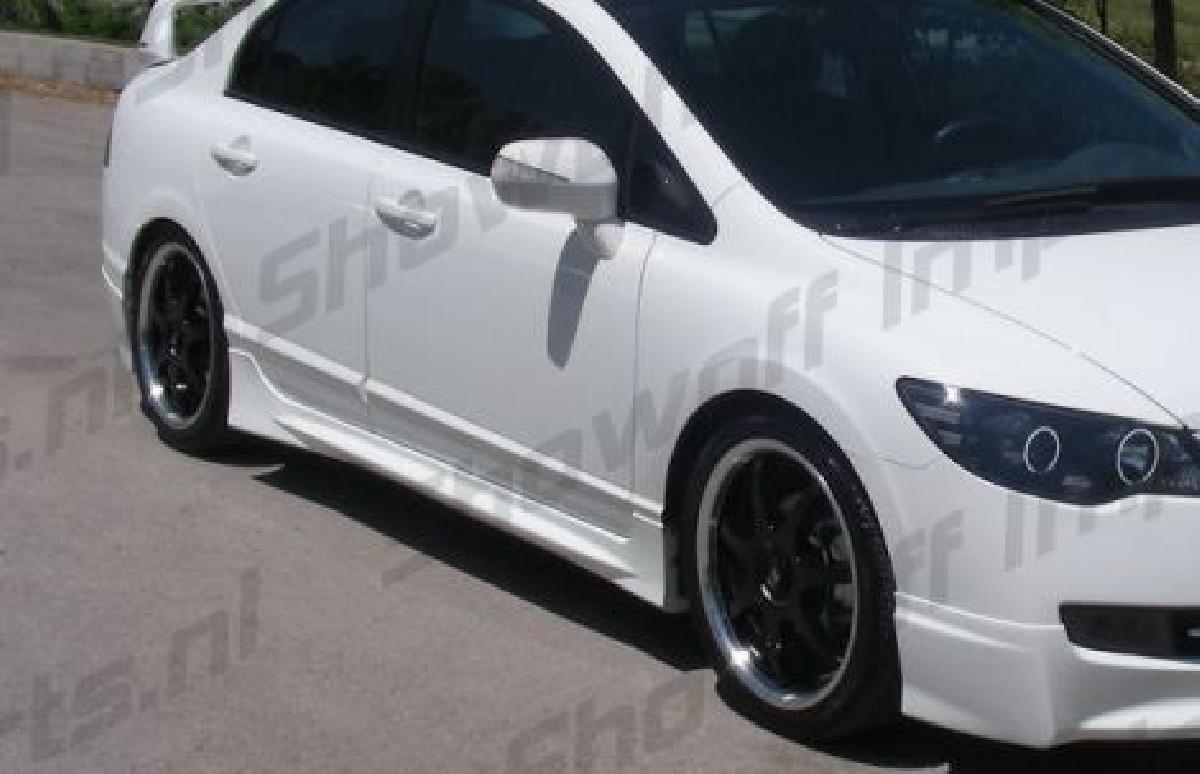 Honda Civic 4D/Hybrid 05+  ABS Sideskirts SIX