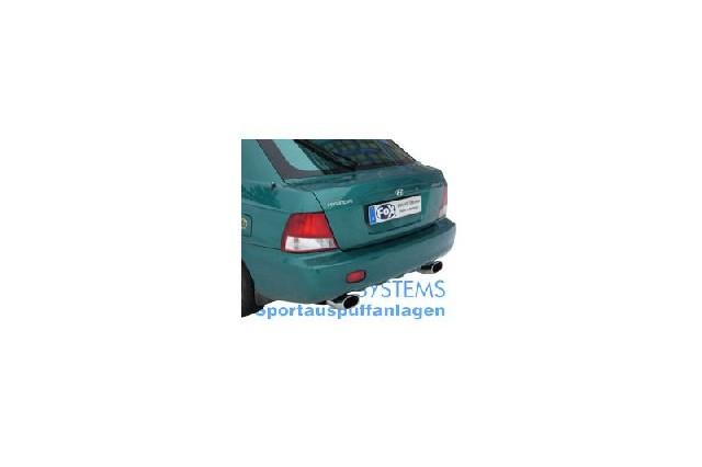 FOX Hyundai Accent Typ LC  Endschalldämpfe rechts/links - 135x80 Typ 57 rechts/links
