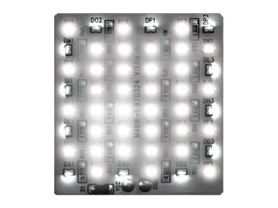 LED Innenraumbeleuchtung mit 36 LEDs 38x38mm weiss
