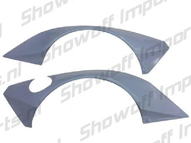 Nissan 350Z Rocket Bunny Style FRP Rear Fenders Addons SIX