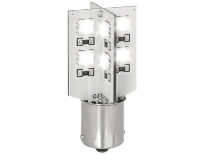SMD-Line BA15S mit 16 SMD LED CanBus weiss (1 Stk.)