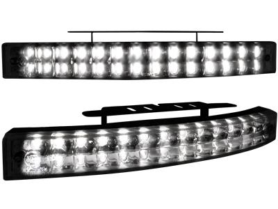 Tagfahrlicht mit 28 LED LxHxT 200x24x42mm (2 Stück) black