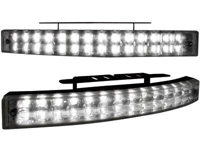 Tagfahrlicht mit 28 LED LxHxT 200x24x42mm (2 Stück) blackchr