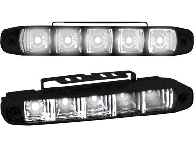 Tagfahrlicht mit 5 hipower LED LxHxT 160x24x54mm black