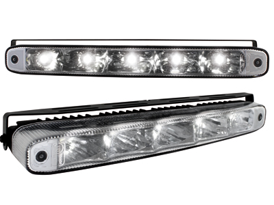 Tagfahrlicht mit 5 hipower LED LxHxT 220x26x48mm (2 Stück)