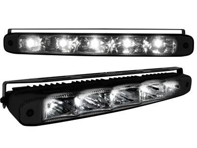 Tagfahrlicht mit 5 hipower LED LxHxT 220x26x48mm black