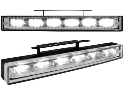 Tagfahrlicht mit 6 hipower LED 220x29x43(max)30(min)