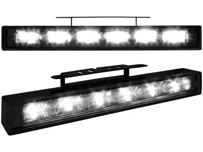 Tagfahrlicht mit 6 hipower LED 220x29x28 black
