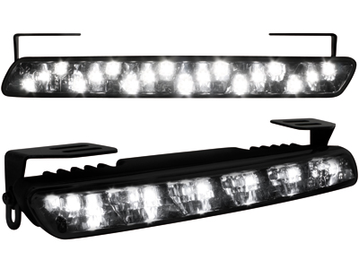 Tagfahrlicht mit 18 LED LxHxT 200x23x40 mm (2 Stück) black