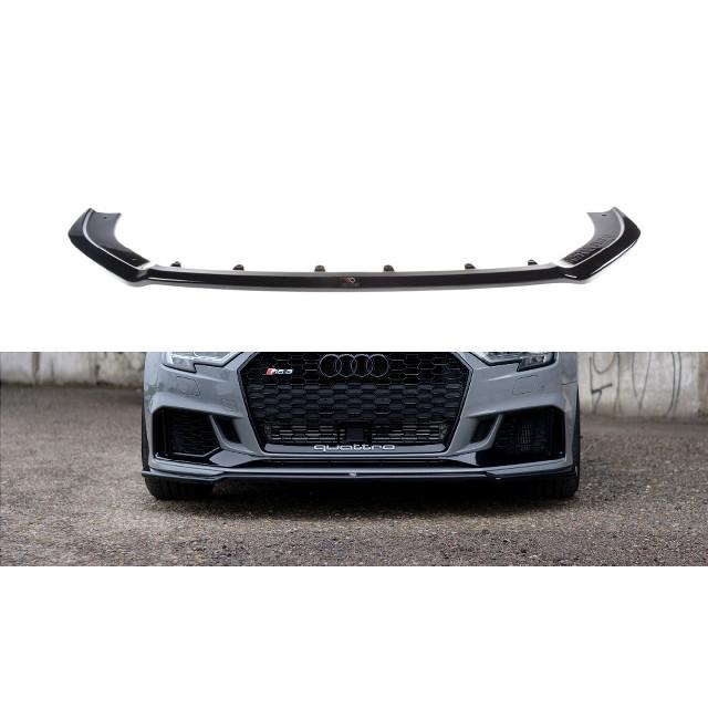 Cup Spoilerlippe Front Ansatz V.2 für Audi RS3 8V FL Limousine schwarz matt