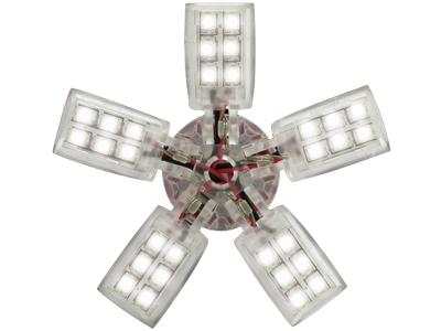 Spider Bulb BA15S weiß mit 5 Armen und 40 LEDs 5 W