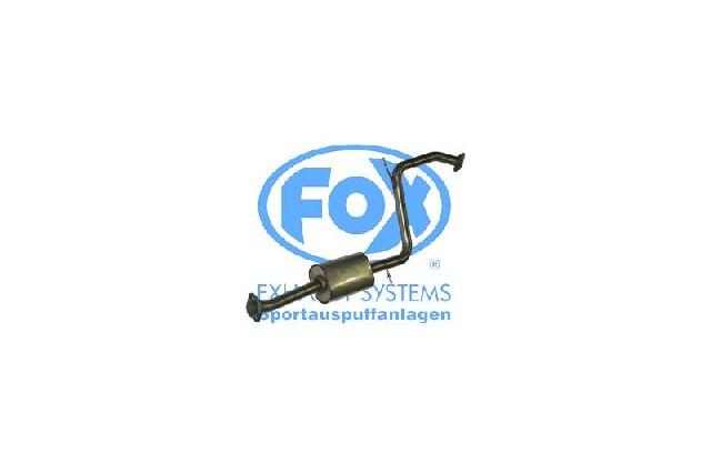 FOX Mazda MX3 Typ EC  Vorschalldämpfer mit Tulpe und Flansch