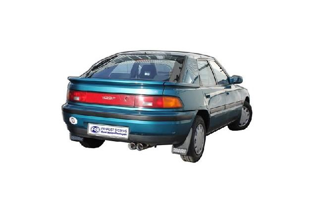 FOX Mazda 323 Typ BG/ MX3 Typ EC  Endschalldämpfer mit Flansch - 2x80 Typ 13