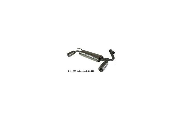 FOX Mazda 323F/323C Typ BA  Endschalldämpfer quer Ausgang rechts/links  - 1x90 Typ 13 rechts/links