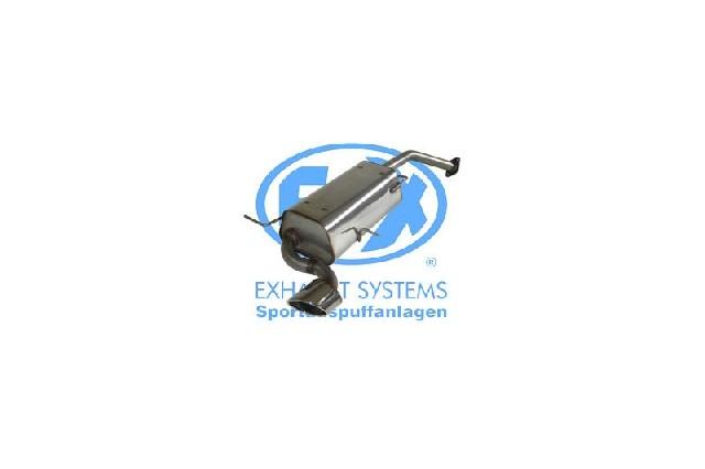 FOX Mazda Xedos 6 Typ CA  Endschalldämpfer - 115x85 Typ 38