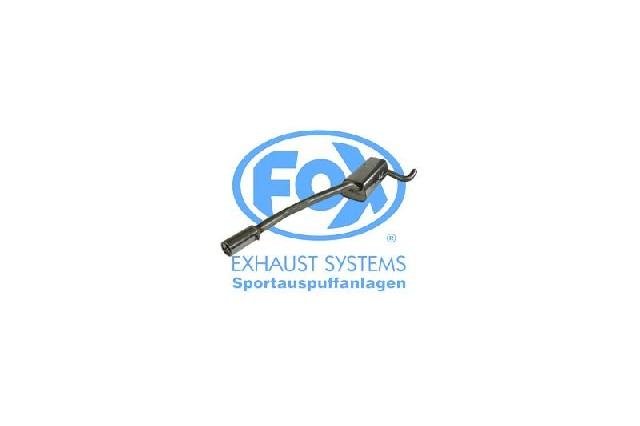 FOX Mazda 3  Endschalldämpfer - 1x90 Typ 13