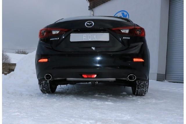 Mazda 3 - BM  Sportauspuff Endschalldämpfer quer rechts/links - 115x85  rechts/links