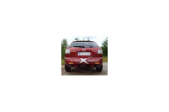 FOX Mazda CX7  Endschalldämpfer quer Ausgang rechts/links - 1x114 Typ 13 rechts/links