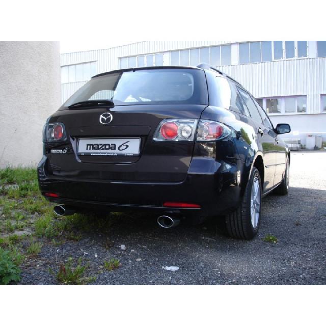 Mazda 6 Facelift Endschalldämpfer Ausgang rechts/links einflutig - 115x85