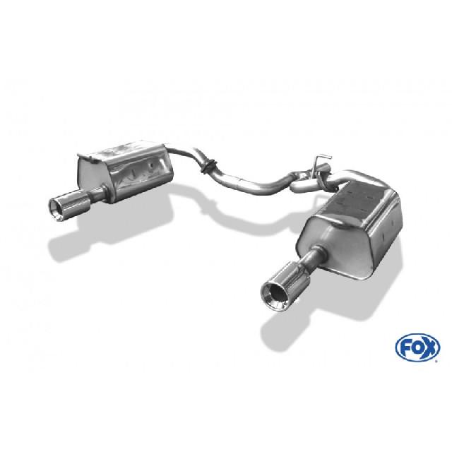 Mazda 6 GG/GY nicht Facelift Endschalldämpfer rechts/links mit Y-Verbindungsrohr - 1x90